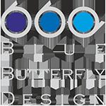 Blue Butterfly Design Logo